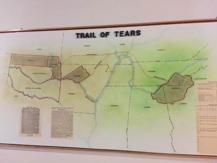 A map of the Trail of Tears