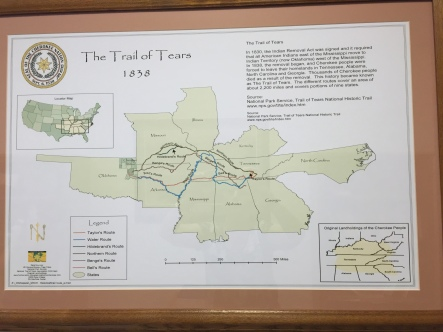 Lake Dardanelle SP has a small museum and research room about the Trail of Tears. This is one of the maps.
