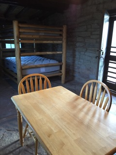 The comforts of our cabin