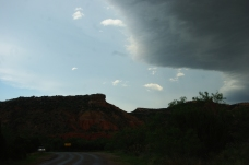 We entered the Palo Duro Canyon SP about 8PM, just as a storm was moving in