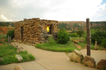 Our cabin at Palo Duro Canyon State Park, built by the Civilian Corps in the 1930's