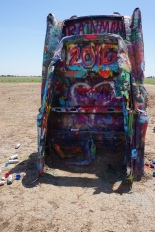 Cadillac Ranch: An everchanging, continuous graffiti art gallery.
