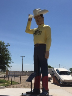 2nd Amendment Cowboy near Cadillac Ranch, TX