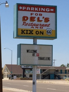 We had lunch at Del's Restaurant, Tucumcari, NM