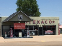 Texaco Statiion with the pink cadillac, Tucumcari, NM