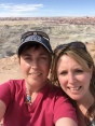 A sibling-selfie at Little Painted Desert