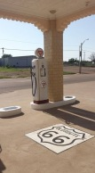 Gas pump at Conoco Gas Station, Shamrock, TX