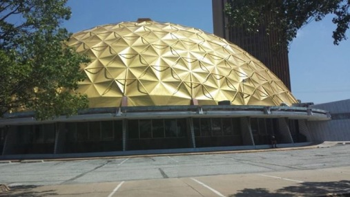 The Gold Dome, Oklahoma City, OK (although we called it the Golden Boob before we knew what it was).