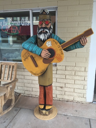 Strummin' and Taking it Easy, Winslow, AZ