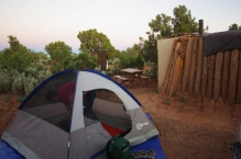 Because of the temperature and the clear skies, we stayed in our tent instead.