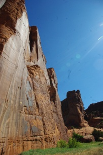 The sheer magnitude of the canyon walls was breathtaking!